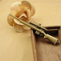 antique military guns - 106 MM Antique Bronze Retro sniper rifle pendant charm military charms shot gun charm DIY jewelry accessories shop