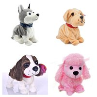 battery operated toys for dogs - New Electronic Toys High Quality Funny Sound Control Electronic Pet Toys Plush Dog Gift Toys For Children Birthday Gifts