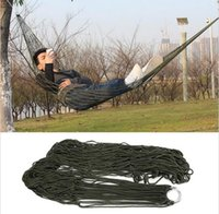 Wholesale Outdoor Travel Camping Hammock Garden Portable Nylon Hang Mesh Net Sleeping Bed x80cm Deed Green