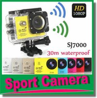 Wholesale SJ7000 Waterproof Sport Action Camera Full HD P WiFi Camera GoPro Style Helmet Camera Car DVR inch MP CMOS Sports Camcorder JBD N3