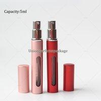 Wholesale 5ml slim perfume atomizer travel size perfume atomiser with a window mini refill perfume bottle in stock