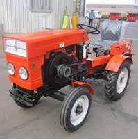 Wholesale 12HP Small Four wheel Tractor Agriculture Cultivators Tractors Efficiency Wheel