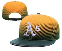 athletic blue hat - New MLB Oakland Snapbacks Athletics Sports Caps Medium Raised Embroidery Letter Adjustable Hats Structured Classic High Crown Baseball Caps