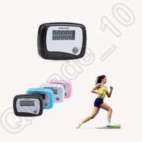 Wholesale 650pcs CCA4130 High Quality Mini LCD Outdoor Pedometer Pocket Step Counter LCD Screen Outdoor Pocket Run Pedometer Digital Walking Counter