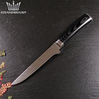 Wholesale Elegant quot Damascus steel Boning knife with double forged Micarta handle