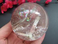 asia plants - 70 mm natural rare clear quartz crystal ball ball feng shui ball Asia fashion table decoration good luck balloon