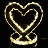 bedroom nightstand lamps - 2016 Real Limited E27 No Ac Crystal Table Lamp K9 Crystal Lamps Heart Shape Led Table Bedroom Nightstand Wedding Upscale Decorative Lights