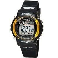 automatic alarm watch - Hot sell WR30 WACHES digital mens watch waterproof wristwatch automatic clock military silicone army datejust chronograph Alarm calendar lov