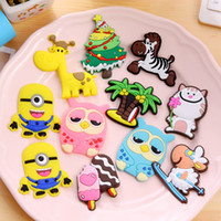 Wholesale New Cartoon Fridge Magnets colorful Creative cute Early Learning Decoration Stickers Fridge and Furniture