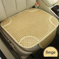 cane bamboo - Universal Breathable Car Seatpad Cane Covers for Auto Car Office Chairs Beige Coffee Color