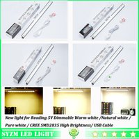 Wholesale Led tube lights Dimmable W Rigid bar light with USB cable for study lamps warm light pure white