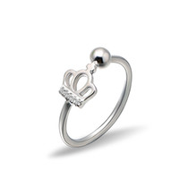 Wholesale Cute Crown Sterling Silver Ring Size Free Silver Ring for Women Online Jewelry RS03753