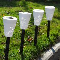 Wholesale 4PCS Outdoor Butterfly Pattern Solar Power Plug Lamp Path Way Landscape Light New Hot Sales