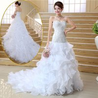 Wholesale Customized new Sexy heart shaped Slim low waist dress high end diamond studded belt ball gown wedding dresses