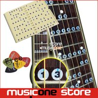 acoustic guitar music notes - Acoustic Electric Guitar Fretboard Note Music Stiker For Sale Decal Neck Fret Stiker On Guitarra Free Alice picks