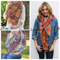Wholesale Free DHL Fashion Winter New Tartan Scarf Plaid Blanket Scarf New Designer Unisex Acrylic Basic Shawls Women s Scarves Big Size M219