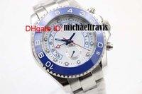 Los hombres de marca de lujo de cerámica azul de zafiro Limited Deportes de cristal blanco de movimiento automático de los hombres reloj de deporte Reloj de pulsera Relojes para hombre