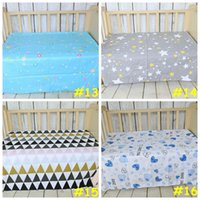 baby cribs twins - 19styles Baby bed ins sheet Kids cartoon swan mattress cover cotton bed sheet girl boys soft crib cm
