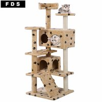 Wholesale New Cat Tree Tower Condo Furniture Scratch Post Kitty Pet House Play Beige Paws PS5791YEDOG