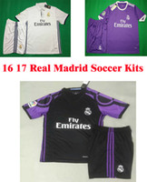 away football kit - Benwon Madrid away black kits RONALDO short sleeve football uniforms JAMES BALE BENZEMA MODRIC soccer sets designer sports jerseys