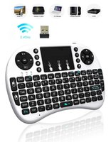 Wholesale Rii I8 Fly Air Mouse Mini Wireless Handheld Keyboard GHz Touchpad Game Remote Control For M8S MXQ MXIII TV BOX Mini PC
