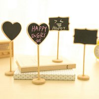Wholesale Mini Price Blackboard W Stand Signage Directions Wood Message Blackboard Fashion Creative Blackboard