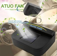 auto natural power - Solar powered car suv auto air vent cool exhaust fan cooler ventilation radiator system