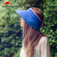 Wholesale NH High Quality Women Outdoor Summer Breathable Top Air Cap Folding Beach Hat Lady Visor Super Light Comfortable Portable Hats