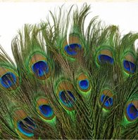 Wholesale inch cm Peacock Feathers Really Tail Feathers Eyes Vintage Party Costume Beautiful Feathers Wedding