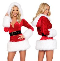 Wholesale Plush Side Of The Long Sleeved Christmas Hooded Christmas Hooded Clothing With Uniform Singer Performance Clothing
