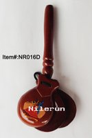 Wholesale educational noisemaker toy Spanish wooden handle castanets
