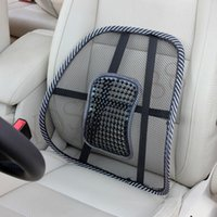 Wholesale Newest Summer Car Covers Mesh Lumbar Back Brace Support Office Home Car Seat Cushion Car styling Car Seat Back Support