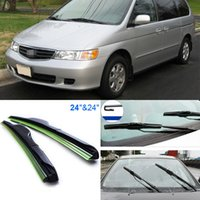 Wholesale 2pcs quot quot front windscreen windshield wiper blades Soft Rubber WindShield Wiper Blade For Honda Odyssey