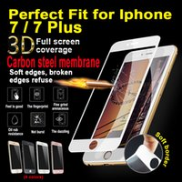 Wholesale For iPhone iPhone Plus D Full Tempered Glass Protector Screen Black gold clear colors H MM with Retail Package