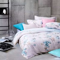 Wholesale High Quality Tencel Bedding Sets Queen full Size Bedclothes Duvet Quilt Cover Sheet Home Textiles Spreads Pillow Covers Satin