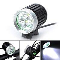 Wholesale NEW3800Lumen Super Bright3 CREE XMLT6 U2 LED Bike Light Headlamp Waterproof Mode LED Bicycle Light Flashlight x