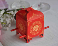 Wholesale New hot sale Happy bridal sedan chair wedding candy favours boxes decorations party supply gift boxes