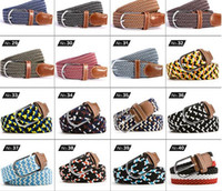 Wholesale New Fashion Kintted Canvans Causal belts Multi color Designers belts Elastic belts for unisex Fashion pin buckle belts