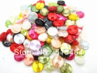 achat en gros de 13mm bouton tige gros-150pcs gros Mixte Fleur Résine Couture Shank Boutons Scrapbook 13mm Knopf Bouton Décoration (W03623) M66051 Boutons