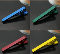 Wholesale Fashion Design Tie Clips Necktie Clips Tie Bars Business Stickpins Men s Jewelry wedding Decoration in colors Hot selling