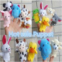 Wholesale 2016 New hot sale Christmas gifts Professional baby kids Supplier Animal Finger Puppets finger doll finger puppet A0241