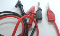 banana cable clip - 1 set High Voltage Silicone Cable Alligator clips TO mm Banana plug Test