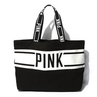 beach videos - AC244 VIDEO SPORT women girl Bicolor large Weekend Bag Shopper Tote bag beach bag