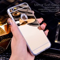 Wholesale New Fashion Rose gold Luxury Mirror Soft Clear TPU Case For iPhone Plus S inch iPhone6 Plus quot SE s Cover Back