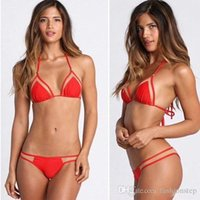 affordable sexy swimwear - Super affordable Summer Style Sexy Bathing Suit Women New Swimwear Swimsuit Sexy Bikini Swimwear Shoulder Strap Bikinis Set