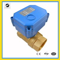Wholesale CWX S DN25 brass way motorized ball valve DC3 v CR01 two wires electric ball valve with manual override function for water treatmen