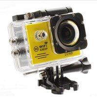 """SJ7000 HD 1080P impermeabile macchina fotografica di azione della videocamera portatile WIFI Sport + batteria extra + Charger 2.0 """"Diving Helmet Camera DVR libera il trasporto LCD"""