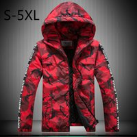 big mens winter jackets - Camouflage Mens Down Parkas Winter Jacket Warm Outwear Outdoor Hooded Big Size Male Autumn Coats Brand Clothing xl XL Red Grey