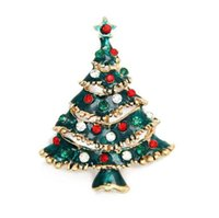 apparel jewelry - Multicolour Crystal Rhinestone Christmas Tree Pin Brooch Christmas Gifts Jewelry Fashion Apparel Brooches for Women Men Hot Sale