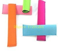 Wholesale 500pcs Newest arrive Fashion Popsicle Holders Pop Ice Sleeves Freezer Pop Holders cm
